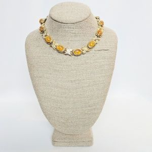 Jewelry - 💥3 for $25💥 Gold & Amber Choker Necklace